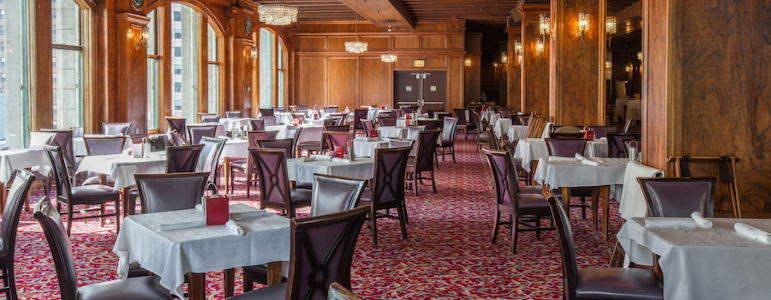 The Walnut Room dining area